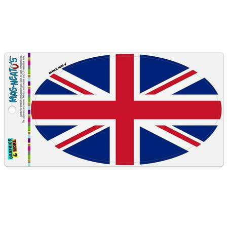 United Kingdom Great Britain Union Jack Country Flag Automotive Car Refrigerator Locker Vinyl Euro Oval Magnet