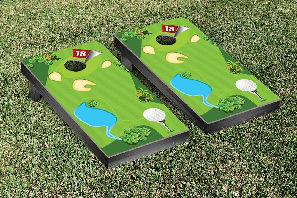 Golf Course Cornhole Set by Victory Tailgate