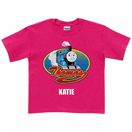 Personalized Thomas & Friends All Aboard! Toddler Girl Hot Pink T-Shirt