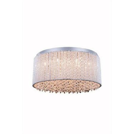 """Elegant Lighting Influx 20"""" 12 Light Royal Crystal Flush Mount - image 1 of 1"""