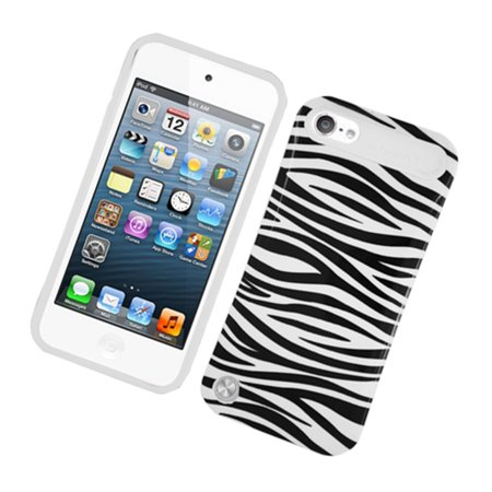 - Insten Night Glow Zebra Jelly Plastic/Silicone Case Cover for Apple iPod Touch 5 5th 6 6th Gen, Black/White