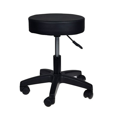 CALHOME Adjustable Black Tattoo Salon Stool Hydraulic Rolling Chair Facial Massage Spa