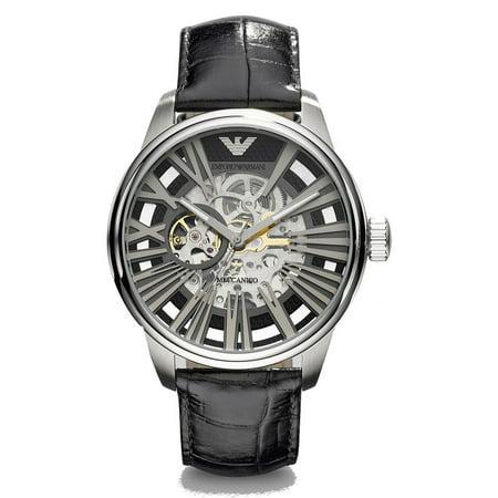 Emporio Armani Men's Meccanico Black Skeleton Watch AR4629