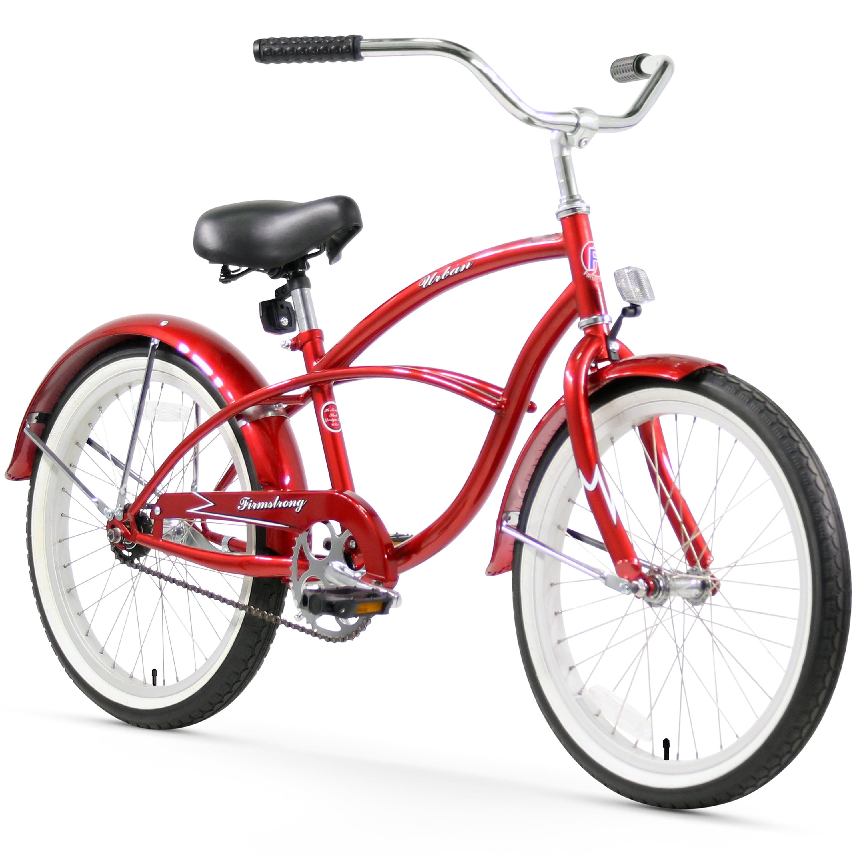 "20"" Firmstrong Urban Boy Single Speed Beach Cruiser Boys' Bicycle, Black by Sixthreezero"