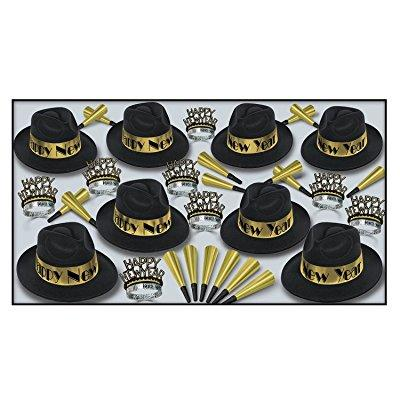 beistle 88595bkgd50 gold swing party favors, 1 assortment per package