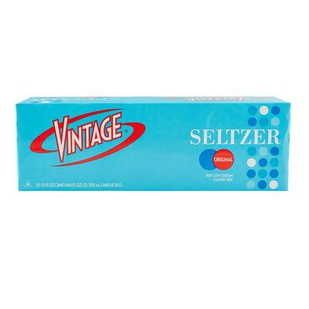 Vintage Seltzer Original Sparkling Water, 12 Fl. Oz., 12 (Canada Dry Mandarin Orange Sparkling Seltzer Water)