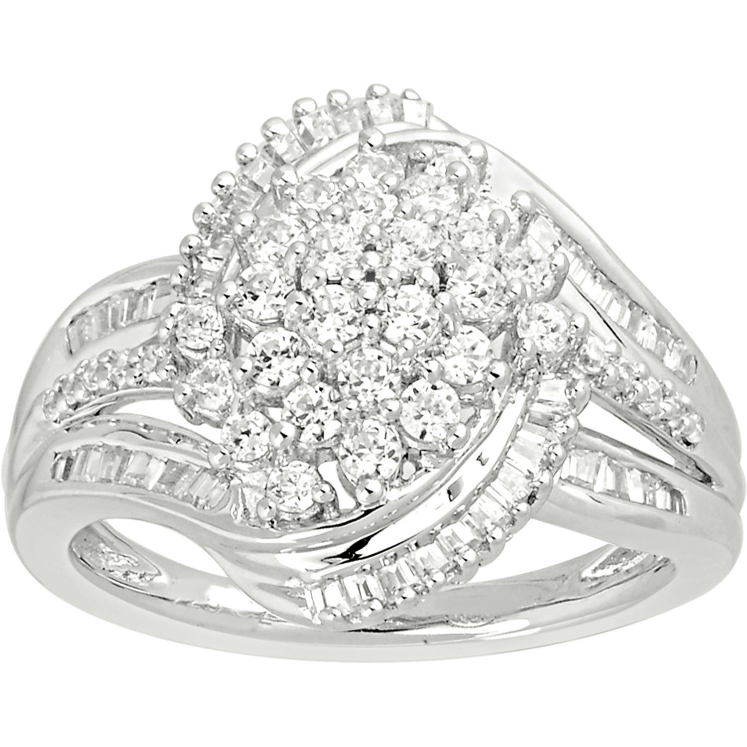 1 Carat T.W. Diamond 10kt White Gold Fashion Right-Hand Ring by INTERJEWEL