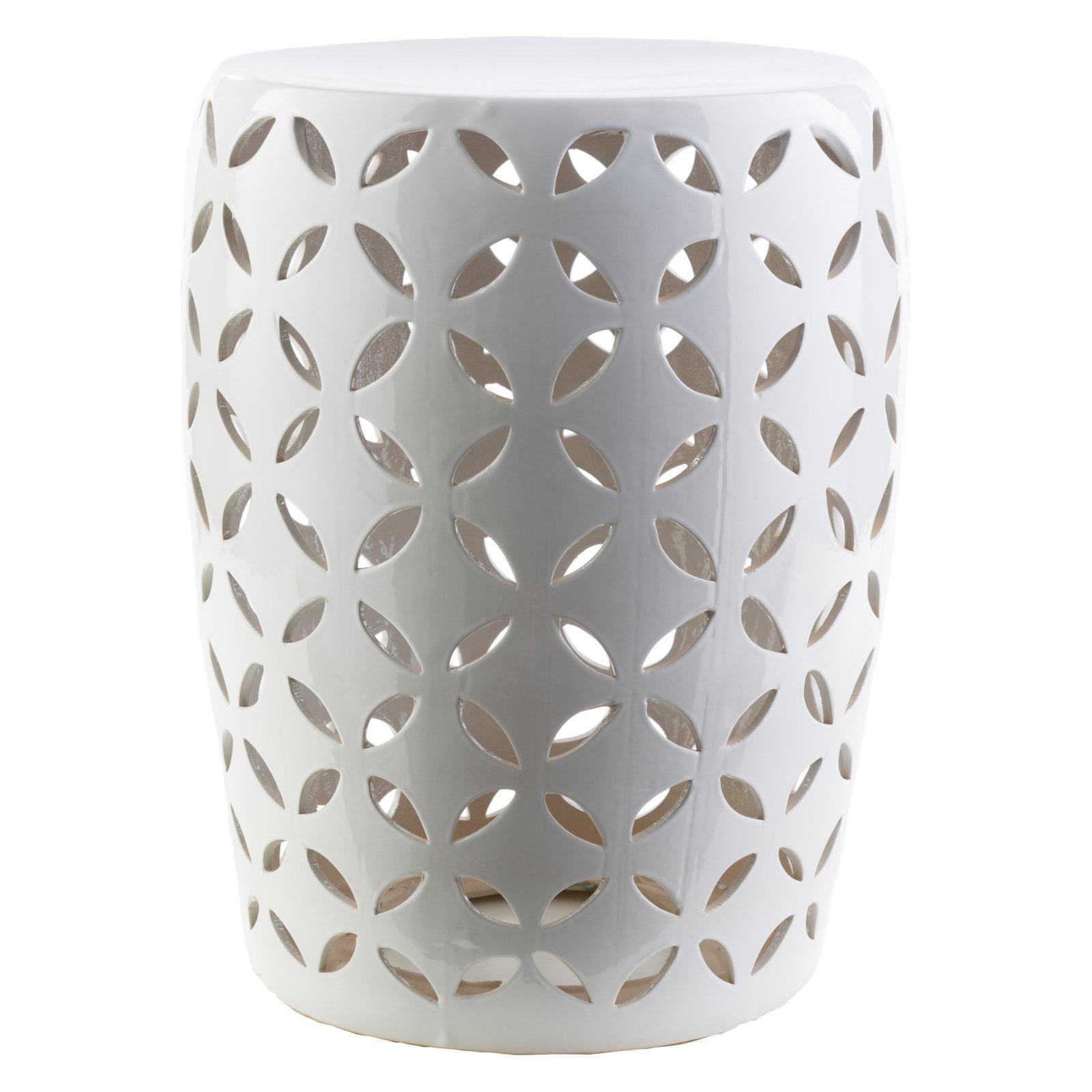 Surya Chantilly Ceramic Stool