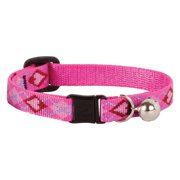 "Lupine Collars and Leads 14227 1/2"" x 8""-12"" Puppy Love Design Safety Cat Collar with Bell"