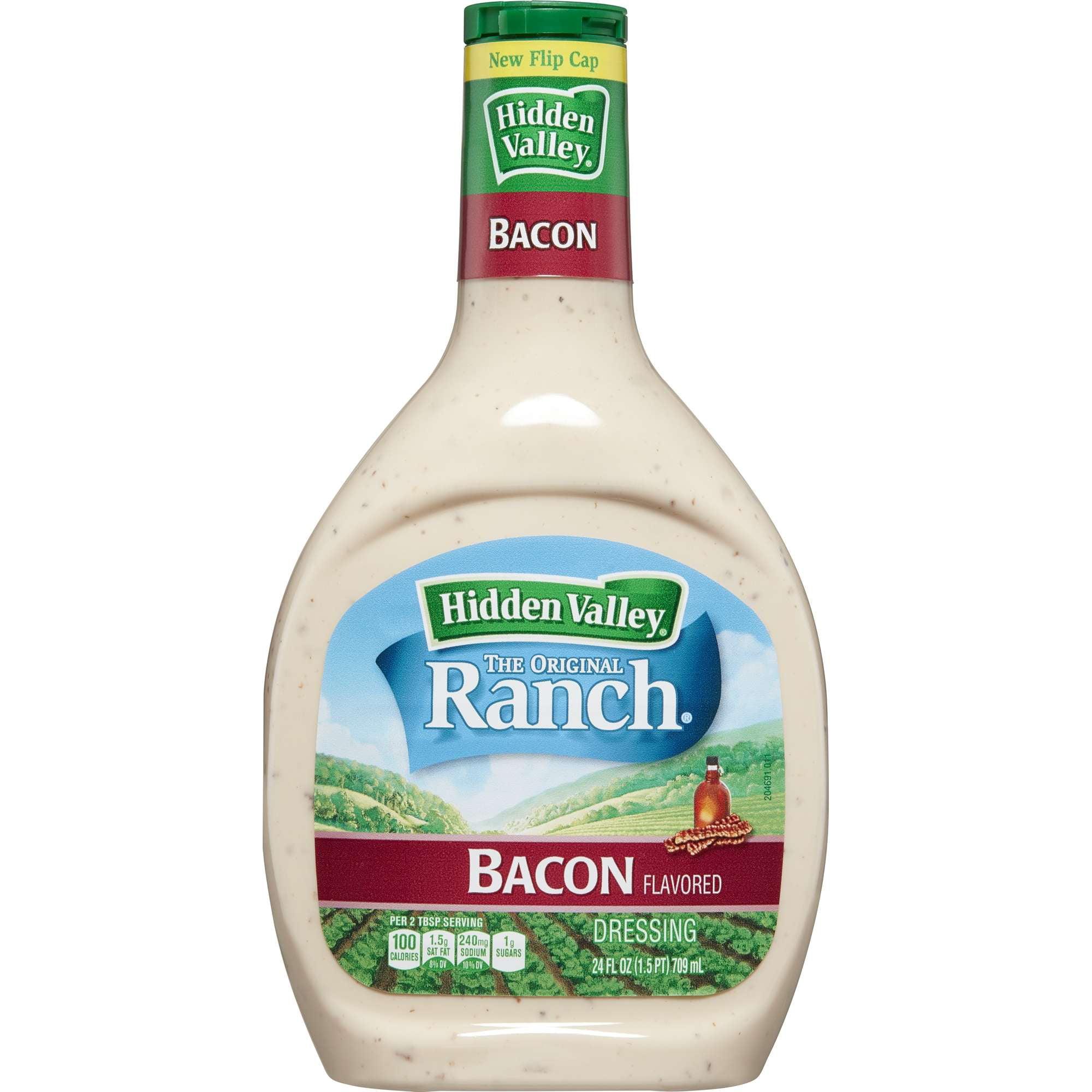 Hidden Valley Original Ranch Dressing, Bacon, 24 Ounces