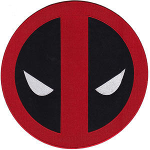"Deadpool Icon - Marvel Comics Embroidered Artwork Iron On Patches, 7.25"" Patch"