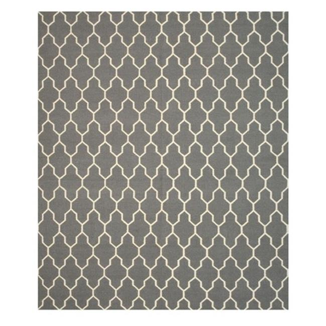 EORC DM12GY 5.50 x 8 ft. Casablanca Grey Hand Knotted Wool Reversible Modern Moroccan Kilim Rug - image 3 de 3