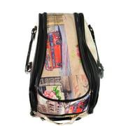 779b5f102b Nima Fashion Paris London City Print Carry On Wheeled Duffle Bag on ...