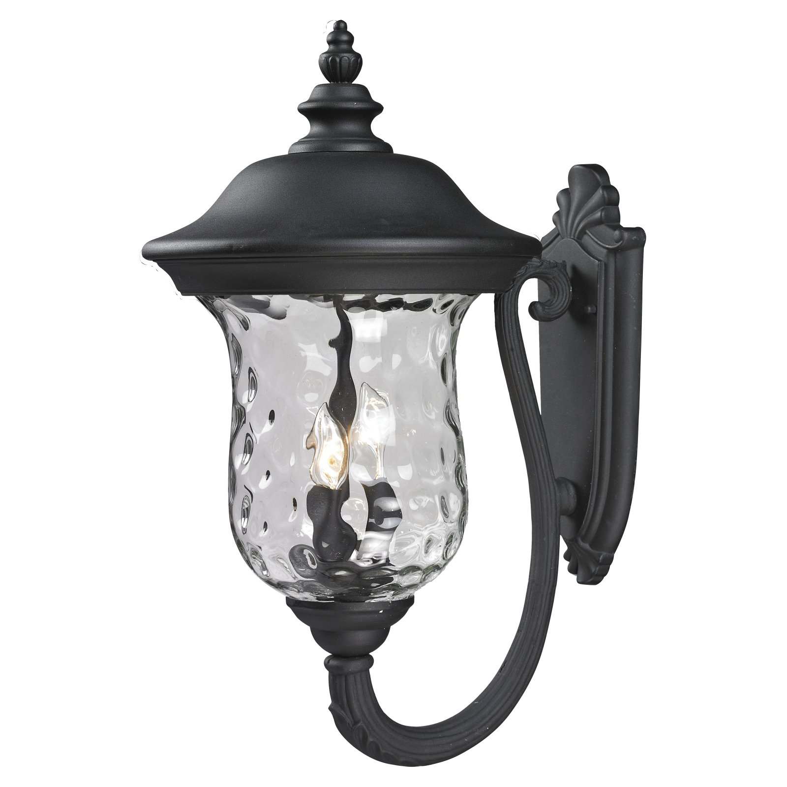 Z-Lite Armstrong Outdoor 3-Light Wall Sconce, Black