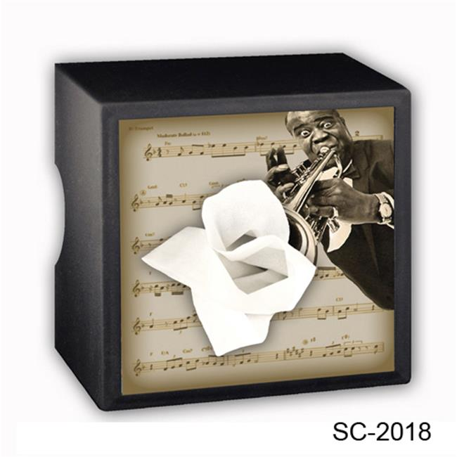 Caravelle Designs SC-2018 Louis Armstrong Square Tissue Boxes