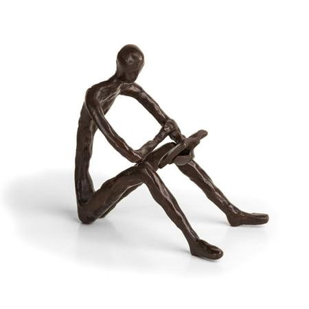 Danya B. Leisure Reading Bronze Sculpture ()