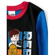 Lego Star Wars Glow in the Dark Fitted Rebel 4 Piece Pajama Sleep Set (Big 2973b7d81