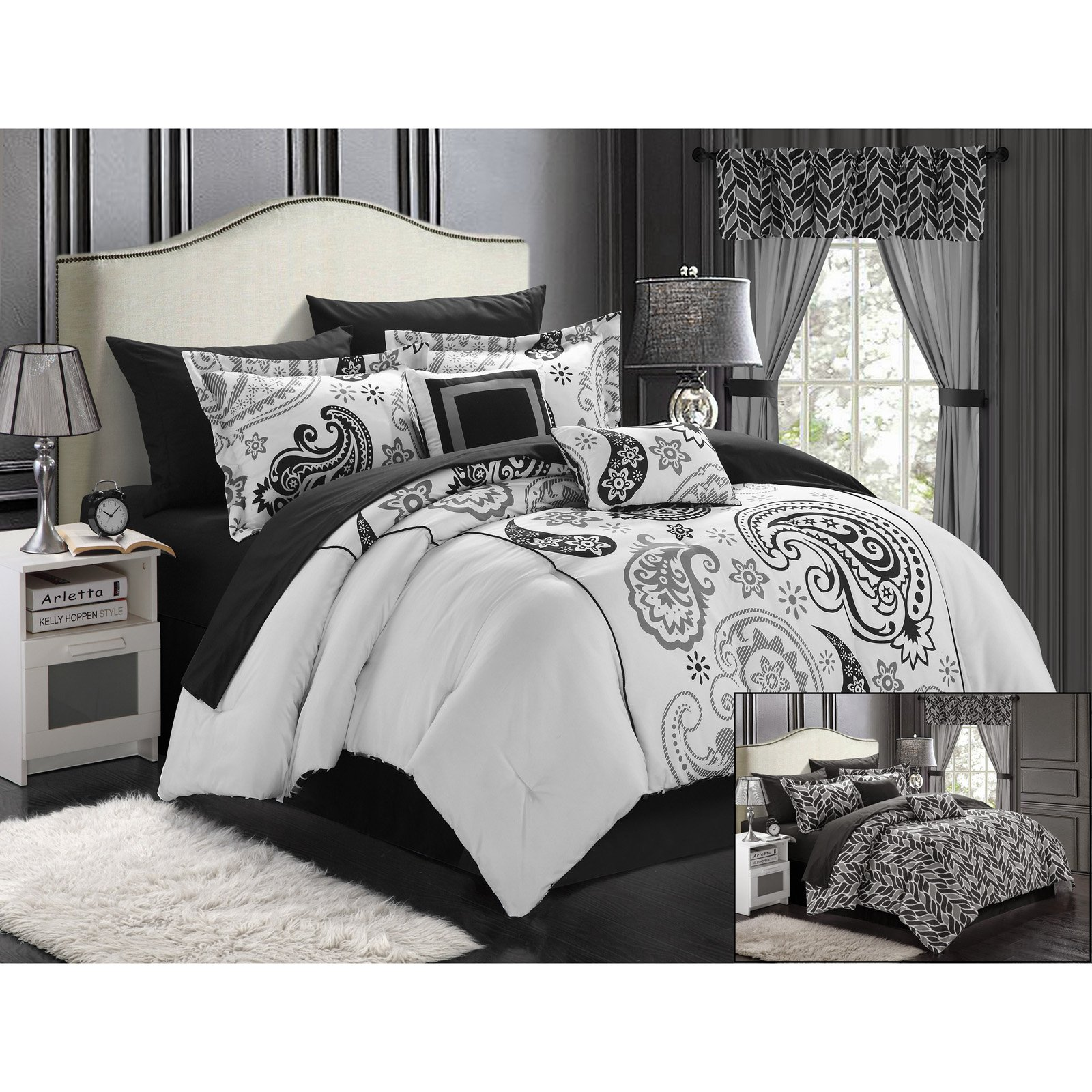 comforter taupe glenmore jacquard reversible pebble paisley set waterford p zi