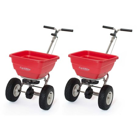 Earthway F80S Commercial Stainless Steel Seed and Fertilizer Spreader (2 Pack)