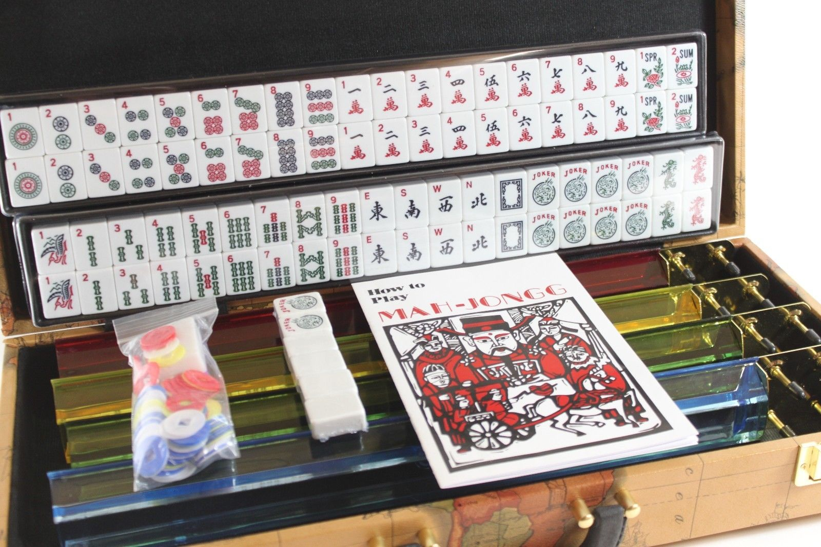 Mah-jongg with joker tiles castle game of 4 walls mahjong ...