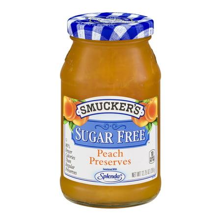 (3 Pack) Smucker's Sugar Free Preserves Peach, 12.75 oz