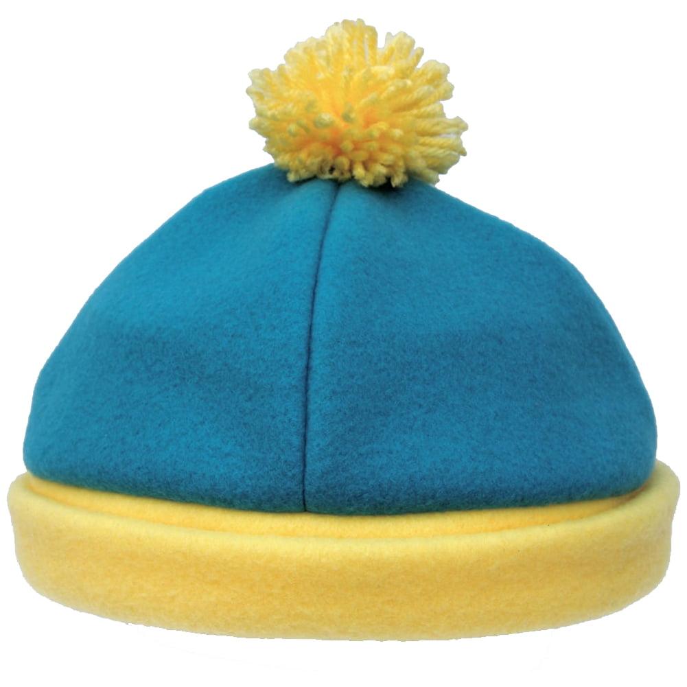 4e237a194ce Eric Cartman South Park Costume Hat Blue Yellow Fleece Winter Ski Cap TV  Cosplay - Walmart.com