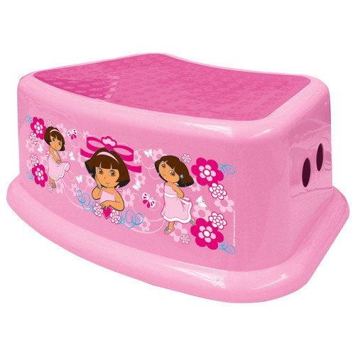 Ginsey 1-Step Plastic Nickelodeon Dora the Explorer Step Stool with 200 lb. Load Capacity
