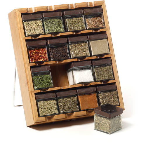 Kamenstein 16-Cube Bamboo Inspirations Spice Rack