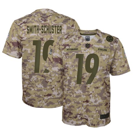 cheap for discount a0596 9b111 JuJu Smith-Schuster Pittsburgh Steelers Nike Youth Salute to Service Game  Jersey - Camo - Yth S
