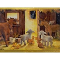 Trimmerry Manger Scene Christian Christmas Cards