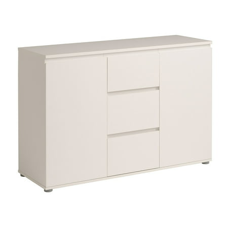 Neo Sideboard with 2 Doors and 3 Drawers, White ()