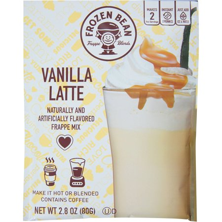 Frozen Bean Frappe Mix Vanilla Latte (4 pack) (Vanilla Frozen Yogurt Mix)