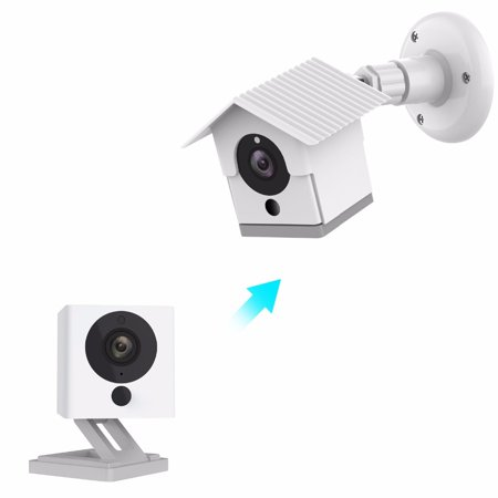 Rainproof Shell Swivel Adjustable Mount Bracket and Housing Shell Case Kit for Xiaomi XiaoFang Camera Sun Glare Resistance Cover(White) Camera Housing Mounting Kit