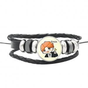 Fancyleo BTS Time Gemstone Bracelet DIY Woven Beaded Bracelet Hot Gift](Diy Beaded Bracelets)