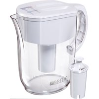 Brita Large 10 Cup Water Filter Pitcher with 1 Standard Filter, BPA Free Everyday, White