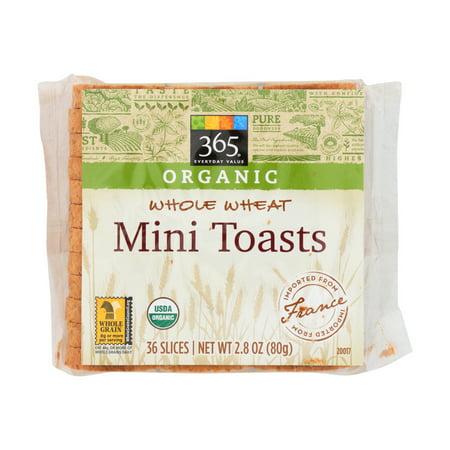 Pack of 3 - Organic Mini Toasts, Whole Wheat, 36 - Whole Wheat Toast