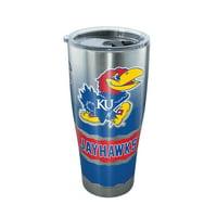NCAA Kansas Jayhawks Knockout 30 oz Stainless Steel Tumbler with lid