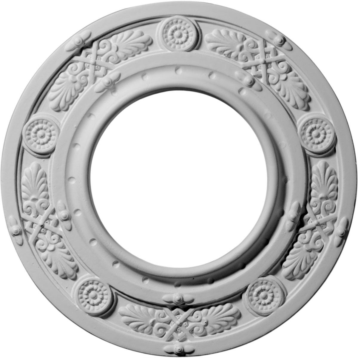 """8""""OD x 3 7/8""""ID x 1/2""""P Daniela Ceiling Medallion (Fits Canopies up to 3 7/8"""")"""