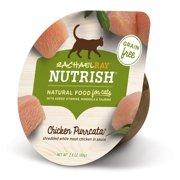 Rachael Ray Nutrish Natural Wet Cat Food, Grain Free, Chicken Purrcata, 2.8 oz tub