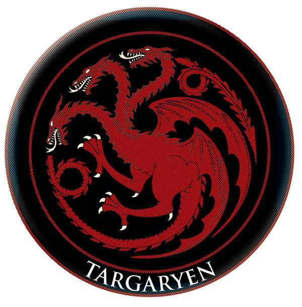 Game Of Thrones Crest Patch: Targaryen