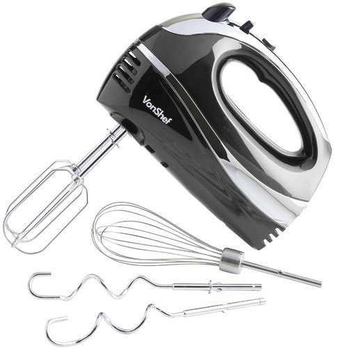 VonShef 5 Speed Whisk with Beater Hand Mixer