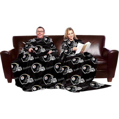 NFL Pittsburgh Steelers Blanket with Sleeves