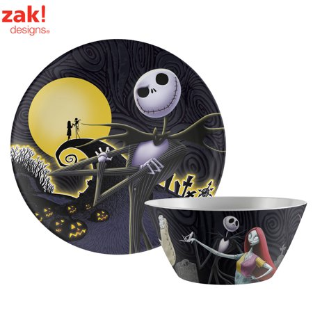 Nightmare Before Christmas Jack Skellington & Sally Plate & Bowl](Nightmare Before Christmas Tablecloth)
