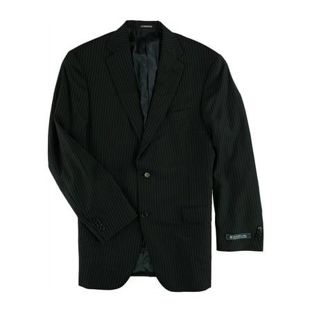Hart Schaffner Marx Mens Pin Stripes Two Button Blazer Jacket navy 42