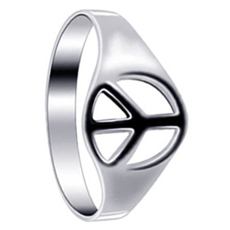 925 Sterling Silver Peace Sign Ring