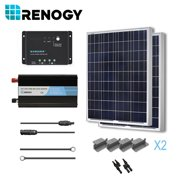 Renogy Solar Panel Complete 200 Watts Poly Kit Inverter Off Grid 12 Volt RV Boat