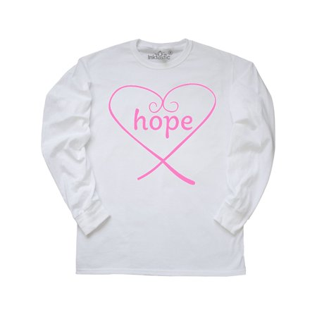 Hope- Breast Cancer Awareness pink heart Long Sleeve T-Shirt Cancer Awareness Long Sleeve