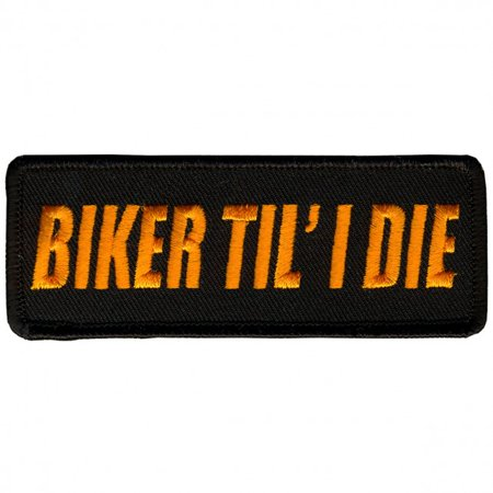 - BIKER TIL I DIE, Iron-On / Saw-On Rayon PATCH - 4