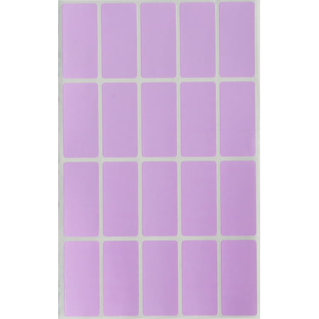 Labels Rectangular Stickers Craft Adhesive in Pastel Purple 40mm x 19mm (1.57 inch x 0.75) Great for Envelope Seals - 300 Pack by Royal Green