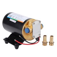 Tebru 12V Oil Diesel Fluid Transfer Scavenge Self-printing Pump for Car Boat Marine, Scavenge Self-printing Pump